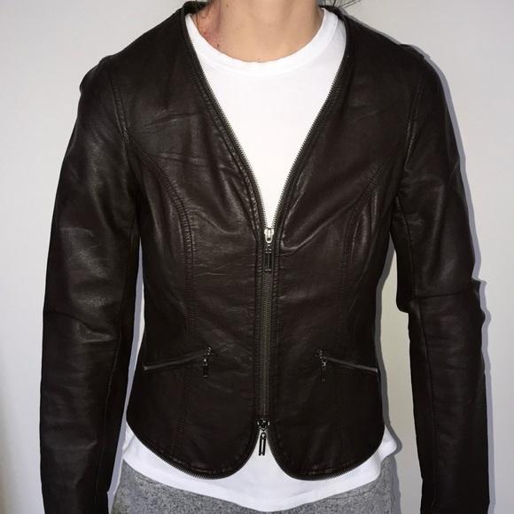 Miilla Clothing Jackets & Blazers - Miilla Clothing leather jacket - brown